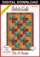 It's a Snap - Downloadable 3 Yard Quilt Pattern