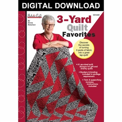 3-Yard Quilt Favorites - Downloadable Pattern Book