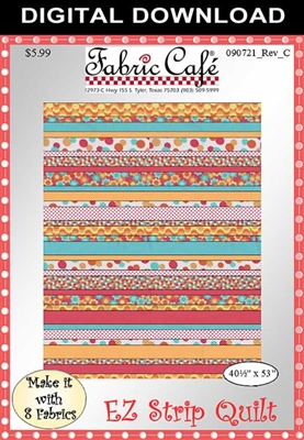 EZ Strip Quilt Downloadable Pattern