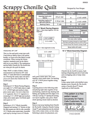 Scrappy Chenille Free Quilt Pattern