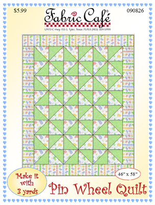 Pin Wheel Downloadable 3 Yard Quilt Pattern