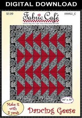 Dancing Geese Downloadable 3 Yard Quilt Pattern