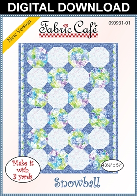Snowball Downloadable - 3 Yard Quilt Pattern