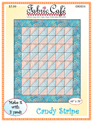 Candy Stripe Downloadable 3 Yard Quilt Pattern