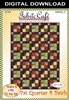 Fat Quarter 4 Patch Downloadable Quilt Pattern