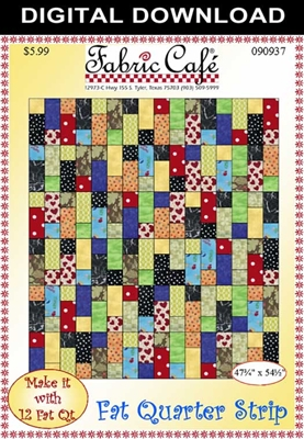 Fat Quarter Strip Downloadable Quilt Pattern