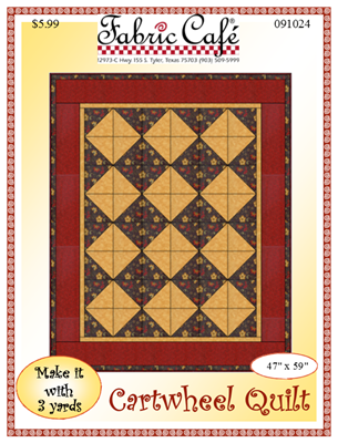 Cartwheels Downloadable 3 Yard Quilt Pattern