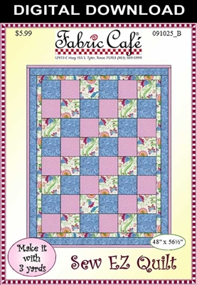 Sew Ez Downloadable 3 Yard Quilt Pattern