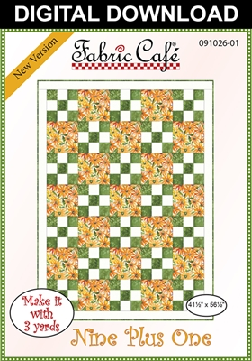Nine Plus One Downloadable 3 Yard Quilt Pattern