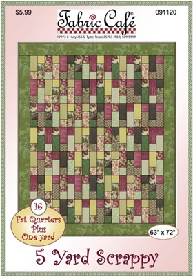 Scrappy Downloadable 5 Yard Fat Quarter Quilt Pattern