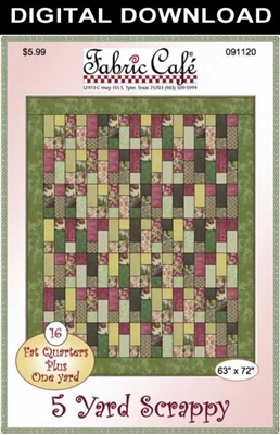 5 Yard Scrappy Downloadable Quilt Pattern