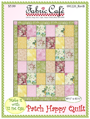 Patch Happy Downloadable Fat Quarter Quilt Pattern