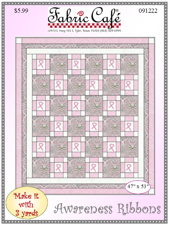 dad5fcf07 Awareness - 3 Yard Quilt - Free Pattern