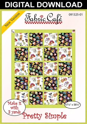 Pretty Simple - Downloadable 3 Yard Quilt Pattern