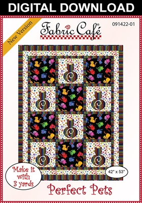 Perfect Pets Downloadable - 3 Yard Quilt Pattern
