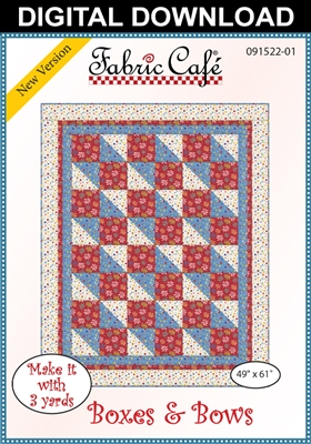 Boxes & Bows - Downloadable 3 Yard Quilt Pattern