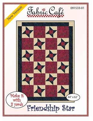 Friendship Star Downloadable 3 Yard Quilt Pattern