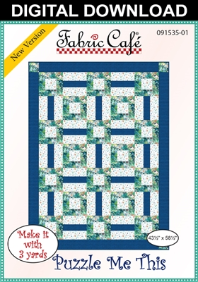 Puzzle Me This Downloadable 3 Yd Quilt Pattern