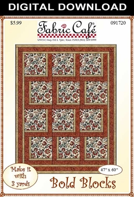 Bold Blocks - Downloadable 3 Yard Quilt Pattern