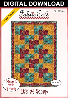 It S A Snap Downloadable 3 Yard Quilt Pattern