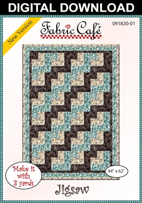 Jigsaw - Downloadable 3 Yard Quilt Pattern