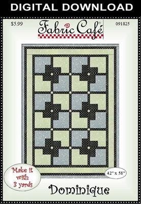 Dominique - Downloadable 3 Yard Quilt Pattern