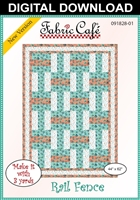 Rail Fence - Downloadable 3 Yard Quilt Pattern
