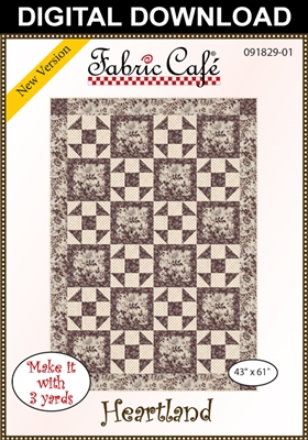 Heartland - Downloadable 3 Yard Quilt Pattern