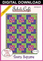 Town Square Downloadable - 3 Yard Quilt Pattern