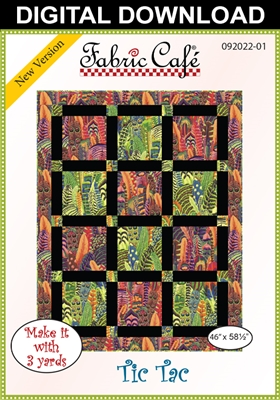 Tic Tac Downloadable - 3 Yard Quilt Pattern