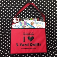 I Love 3 Yard Quilts Tote Bag